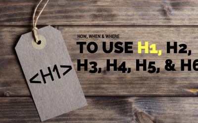How Photographers Use H1, H2, H3, H4, H5, & H6 Header Tags For SEO